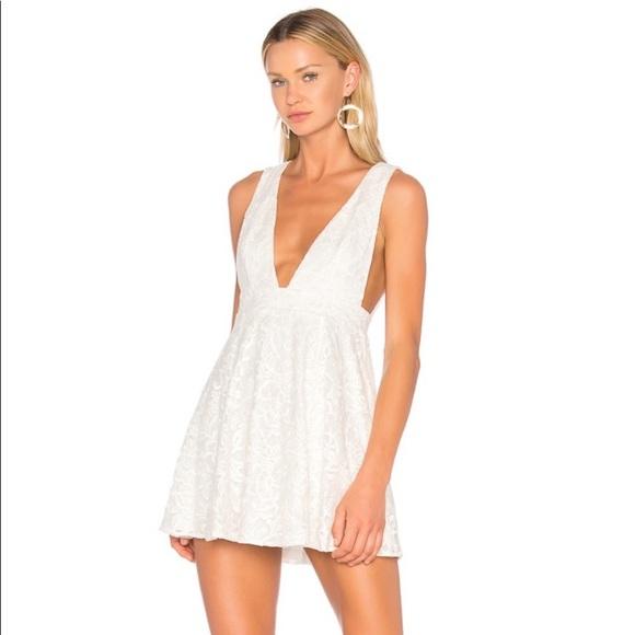 NBD Dresses & Skirts - NBD Faith Ivory Floral Lace Party Mini Dress XS